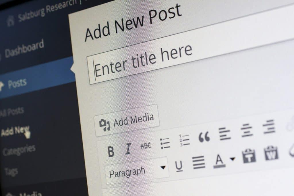 Wordpress beheeromgeving