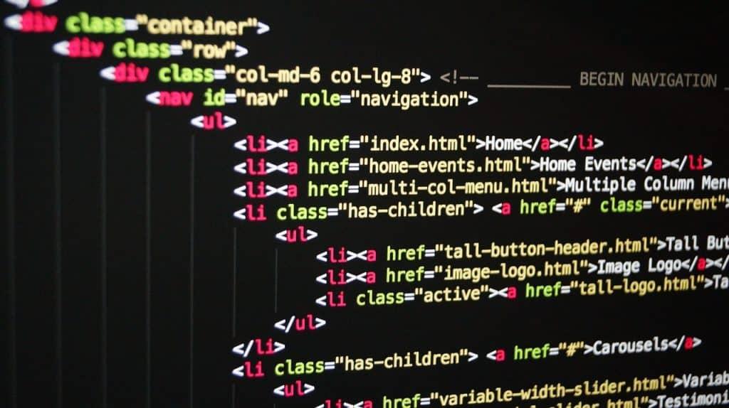 Website software - handmatig gecodeerde website