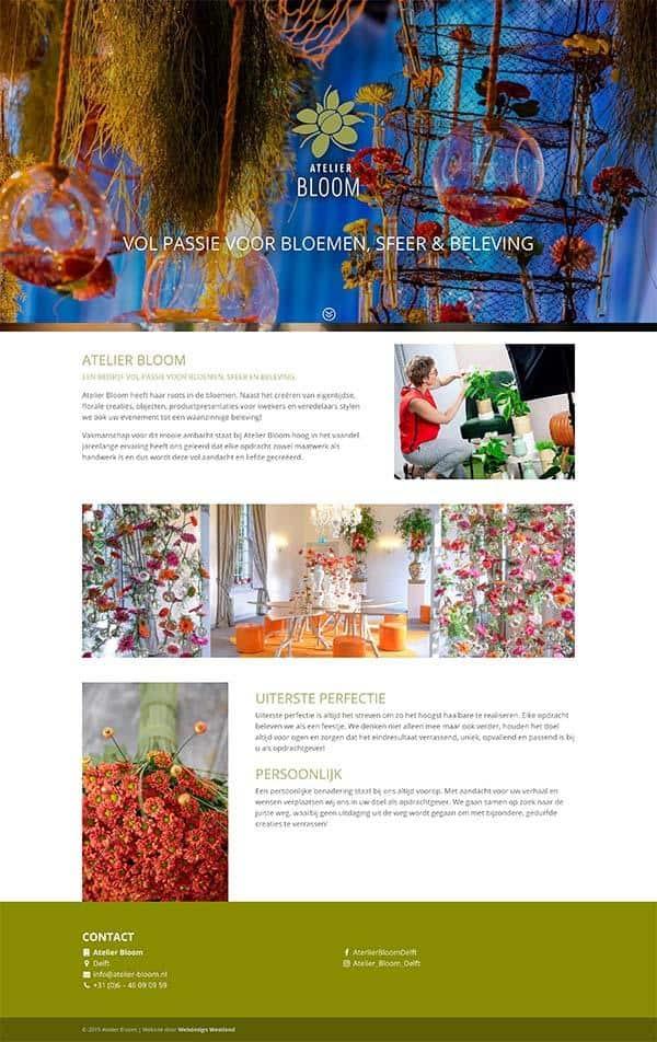 Webdesign bureau Westland maakt een professionele website voor atelier bloom