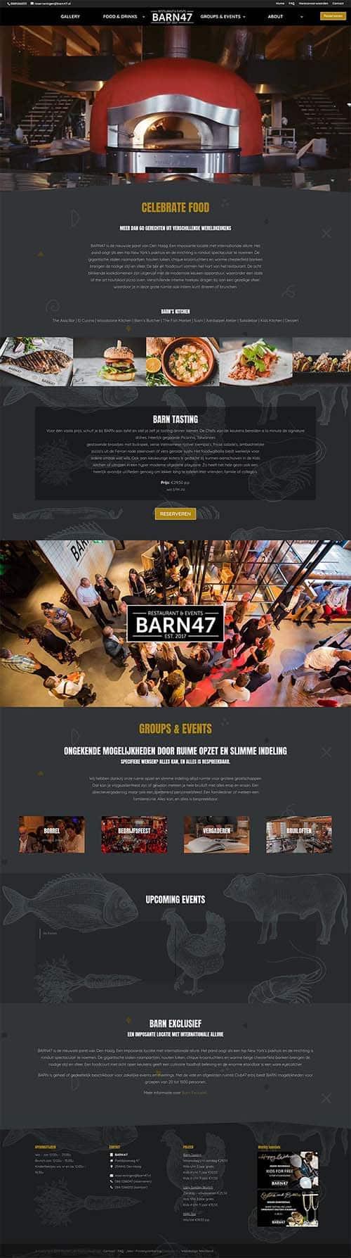 Webdesign bureau Westland maakt o.a. barn47.nl