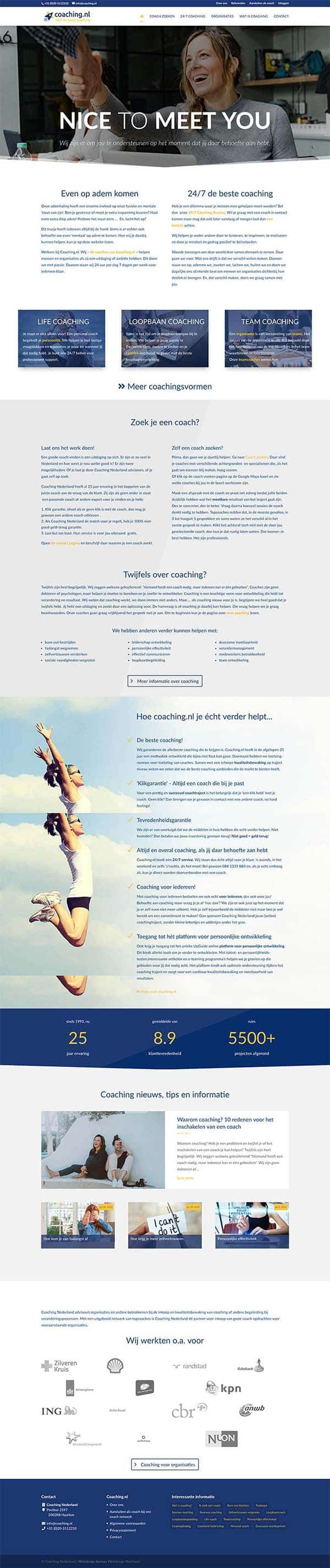 Webdesign bureau Westland maakt o.a. coaching.nl